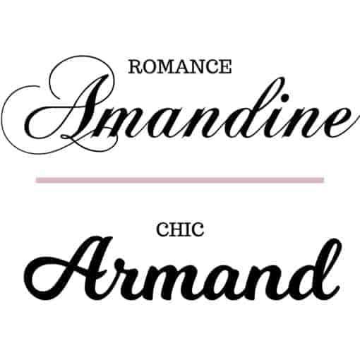 Police d'écriture Romance / Chic