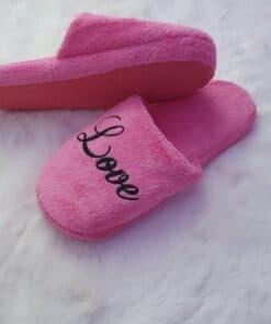 chaussons fermés personnalisés rose